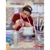 Cake Decorating at Magnolia Bakery