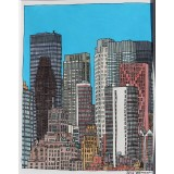 LIC XX (Blue Sky-East Midtown) watercolor
