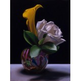 White Rose Yellow Cala